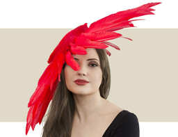 COUTURE HEADPIECE - Red