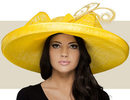 FOUR WEDDINGS HAT - Bright Yellow