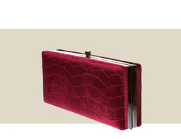LARGE BOX CLUTCH - Burgundy Velvet