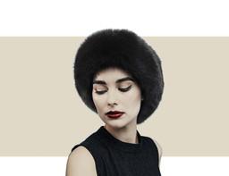 Gina Foster Nassak brown fox fur winter hat