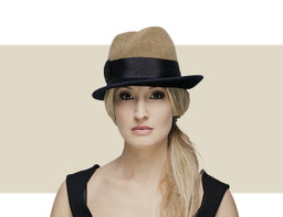 Gina Foster Paragon black and olive green winter hat