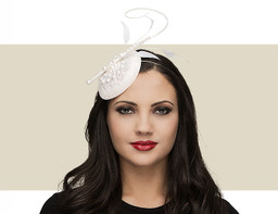PEARL HEADPIECE - White