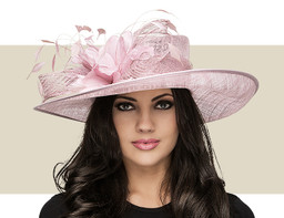 THE MOLLY SIDE-BRIM HAT - Orchid