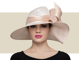 ASSYMETRIC WAVE HAT - Powder Pink