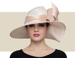 ASSYMETRIC WAVE HAT - Powder Pink