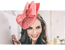 LARGE BOW - Coral