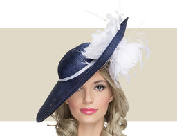 JACQUELINE - Navy with White