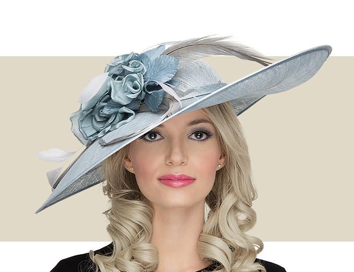 Light Blue Lady Diane Seamist Fascinator Hat For Women