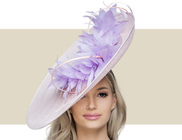 LARGE FEATHER DISC - Lilac