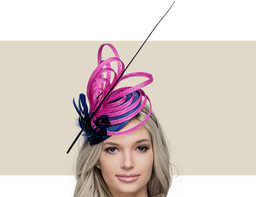 MIMI - Navy Blue with Pink