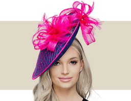 KRISSY - Navy Blue and Hot Pink