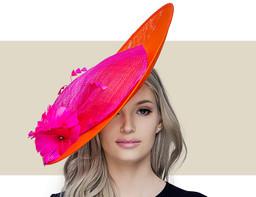 FIONA - Orange and Hot Pink