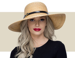 SUN HAT - Natural and Black