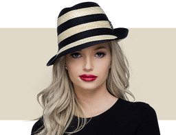 MINI TRILBY - Natural and Black