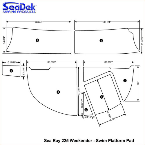 SeaDek Sea Ray Swim Platform Mats