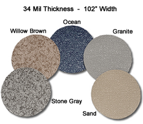 MariDeck Marine Vinyl Flooring - 8.5' Wide x Various Foot Lengths - 34 mil.