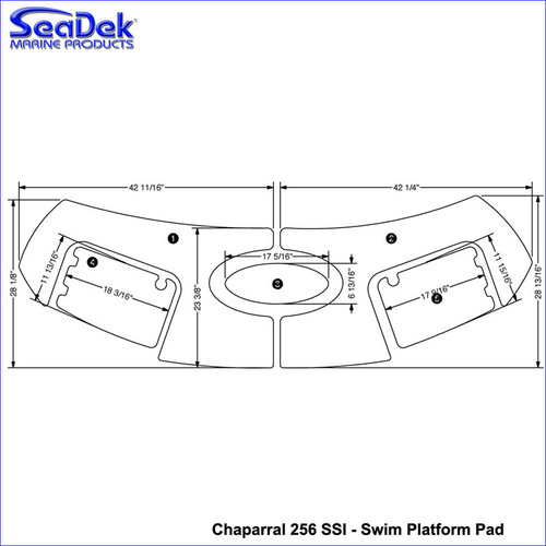SeaDek Chapparal Swim Platform Mats