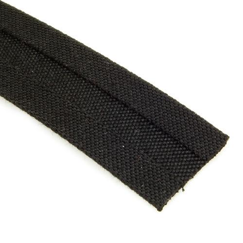 """Sunbrella Binding - 3/4"""" Bias Cut - Double Fold in Black"""