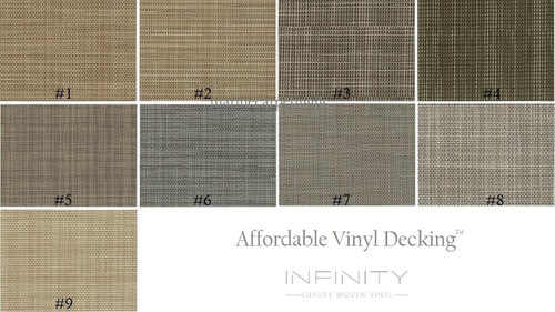 Samples - Affordable Vinyl Decking by Infinity Luxury Woven Vinyl®