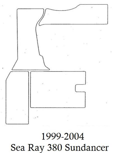 1999-2004 Sea Ray 380 Sundancer Infinity Luxury Woven Vinyl Replacement Set
