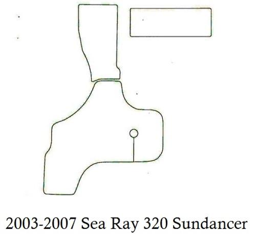 2003-2007 Sea Ray 320 Sundancer Infinity Luxury Woven Vinyl Replacement Set