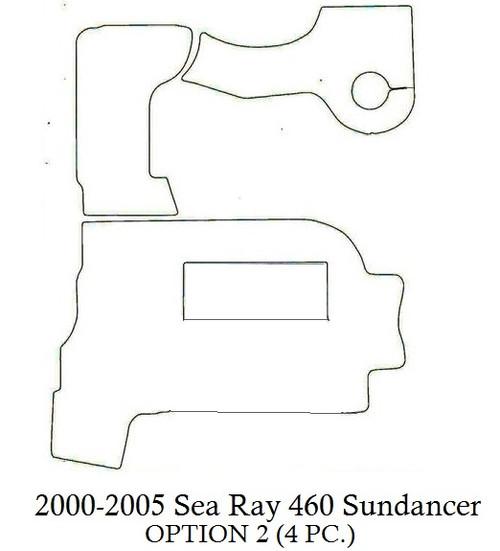 Copy of 2000-2005 Sea Ray 460 Sundancer (Opt 2) Infinity Luxury Woven Vinyl Replacement Set
