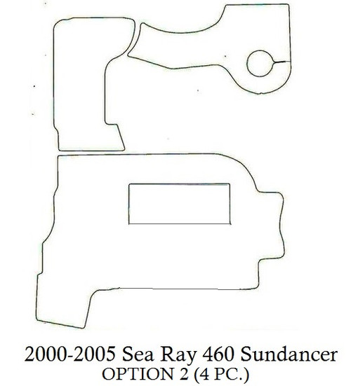 Copy of 2000-2005 Sea Ray 460 Sundancer (Opt 2) Infinity Luxury Woven Vinyl Replacement Set