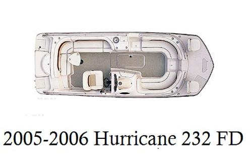 2005-2006 Hurricane 232 Fundeck Infinity Luxury Woven Vinyl Replacement Set
