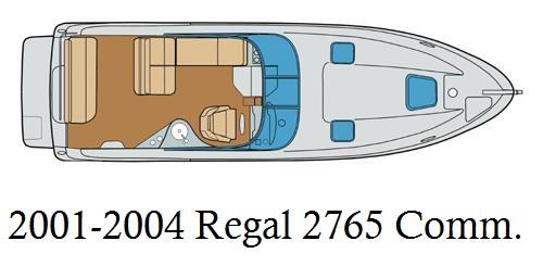 2001-2004 Regal 2765 Commodore Infinity Luxury Woven Vinyl Replacement Set