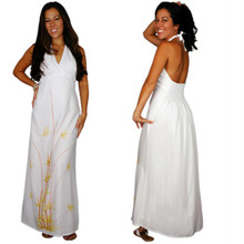 Bamboo 6 Halter / Lined Long Dress