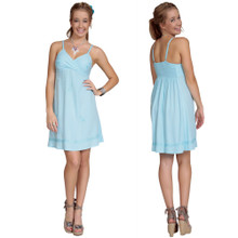 Light Turquoise Mini Dress / Short Dress