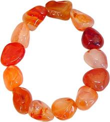 Carnelian Tumbled Stone Bracelet