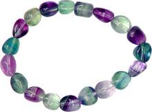 Fluorite Tumbled Stone Bracelet