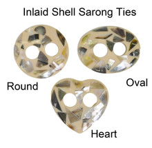 Inlaid Shell Sarong Ties - Natural Heart