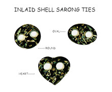 Inlaid Shell Sarong Ties