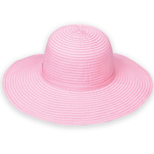 Ribbon Beach Hat in Pink