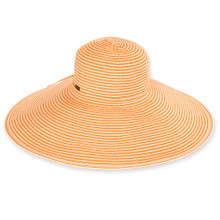 Vella - Orange / Two Tone Ribbon - X-Large Brim