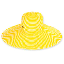 Vella -Yellow / Two Tone Ribbon - X-Large Brim
