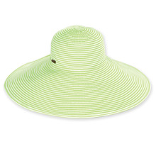 Vella - Lime / Two Tone Ribbon - X-Large Brim