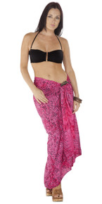 Abstract Sarong in Hot Pink FWS-S-ABSTRACT-38-PNK