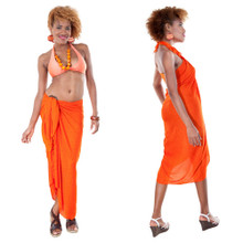 Spiral Pattern Abstract Sarong in Orange