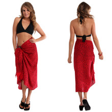 Abstract Sarong in Red FWS-S-ABSTRACT-41-RED