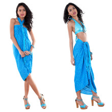 Abstract Pattern Sarong in Turquoise