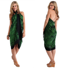 "Aquatic Life Sarong ""Sea Green"""