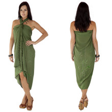 Bamboo Sarong in Olive Green
