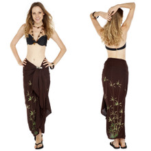 Bamboo Sarong in Brown