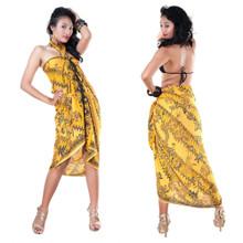 Sarong With Traditional Motif Gold - Parang Rusak Style