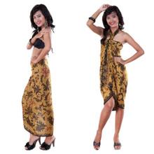 Batik Sarong With Traditional Motif in Brown