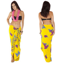 """Butterfly Sarong """"Yellow / Multicolor"""" - BF-16"""