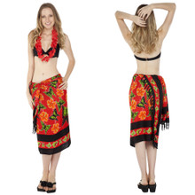Butterfly Sarong in Red Multi Colored